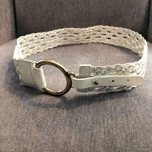 Cole Haan White Braided Belt